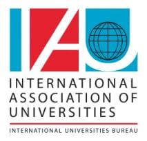 International Association of Universities logo and wordmark English